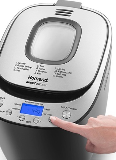 Homend Breadfast 1503 Ekmek Yapma Makinesi Renkli